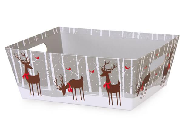 Reindeer Wonderland Large Wide Base Market Trays