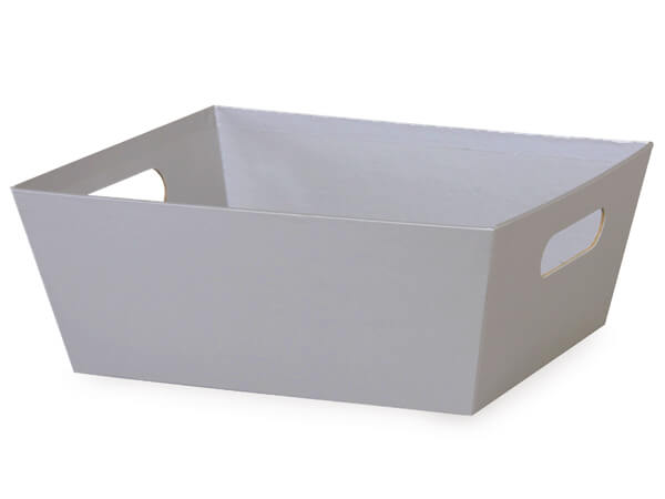 Silver Large Wide Base Market Trays