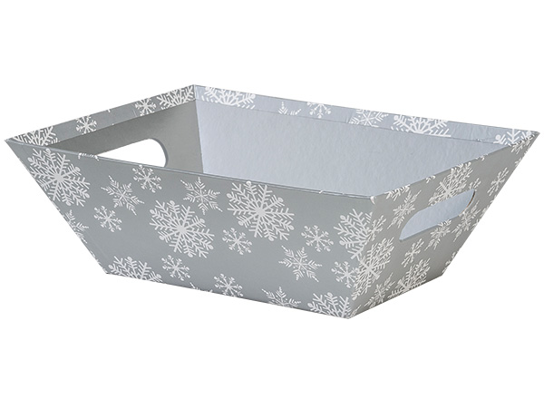 Silver Snowflake Market Tray