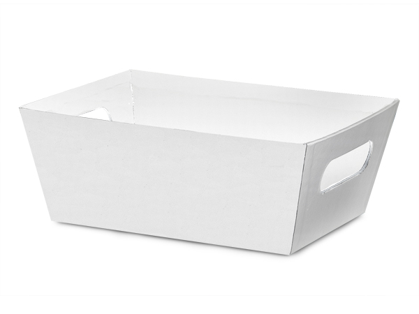 White Large Wide Base Market Trays