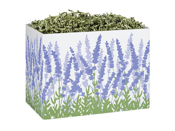 Small Lavender Field Basket Boxes 6-3/4x4x5""