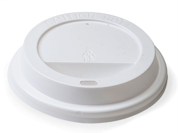 White Cup Lid, Fits 8 oz cups, Bulk Carton