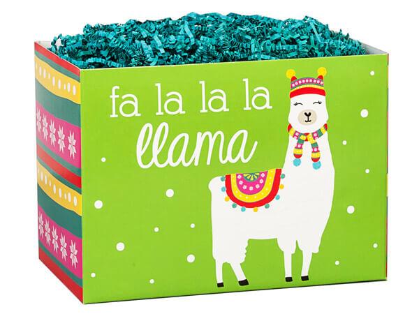 "*Fa La La Llama Basket Box, Large 10.25x6x7.5"", 6 Pack"