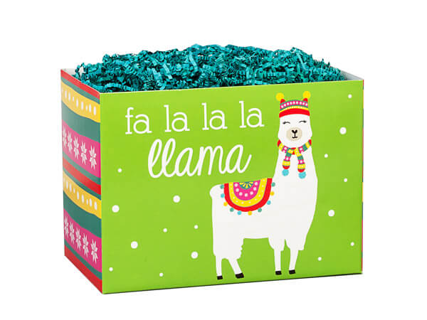 "*Fa La La Llama Basket Boxes, Small 6.75x4x5"", 6 Pack"