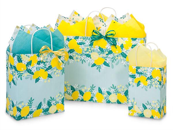 Lemon Blooms Shopping Bags