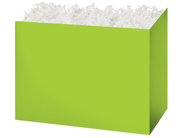 Large Solid Lime Green Basket Boxes 10-1/4x6x7-1/2""