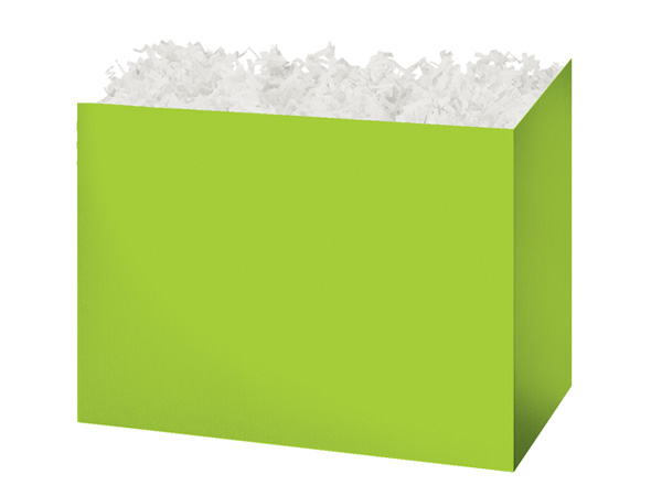 Medium Solid Lime Basket Boxes 8-1/4x4-3/4x6-1/4""