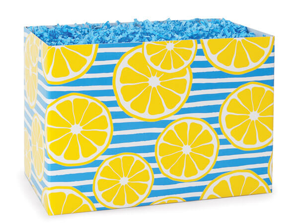 """Lemons Basket Box, Large 10.25x6x7.5"""", 6 Pack"""