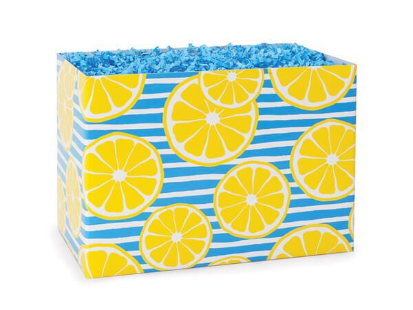 "Lemons Basket Box, Small 6.75x4x5"", 6 Pack"