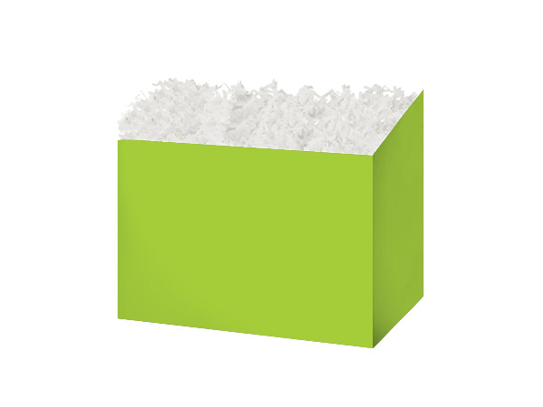Small Solid Lime Green Basket Boxes 6-3/4x4x5""