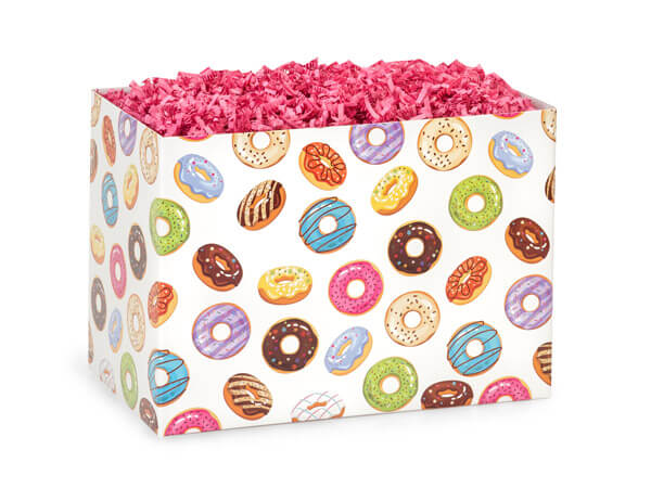 Small Lots of Donuts Basket Boxes 6-3/4x4x5""