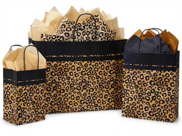 Leopard Safari Paper Bag Assortment 50 Rose, 50 Cub, 25 Vogue