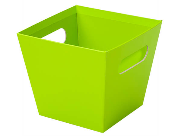Large Lime Green Square Gourmet Market Tray 6-1/2x6-1/2x5-1/2""