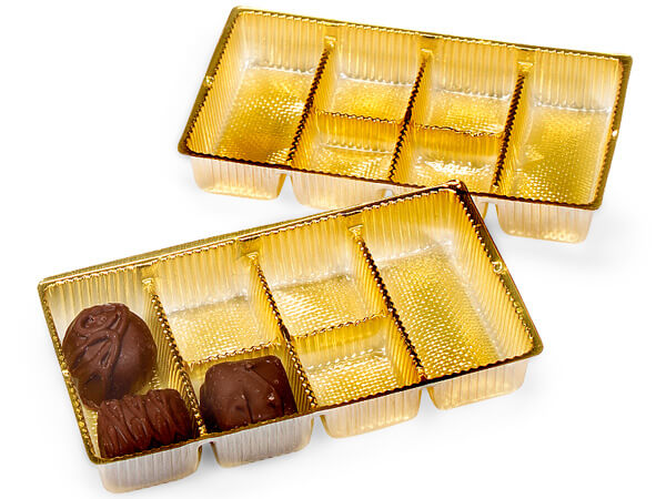"""200 pack 6-1/4x3-1/2x1"""" Gold Trays"""