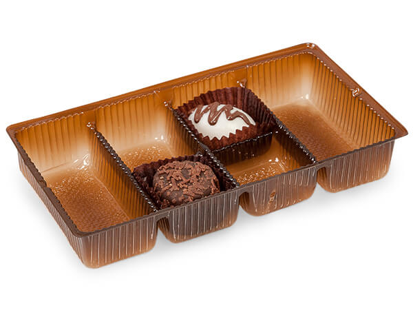 "*200 Pack 6-1/4x3-1/2x1"" Brown Tray"