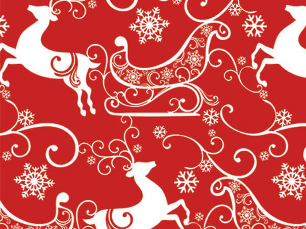 "Sleigh Ride 24""x100' Gift Wrap Roll"