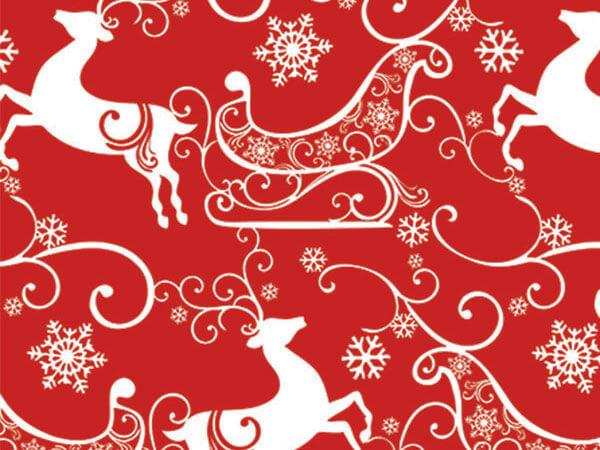 "Sleigh Ride  18""x833' Gift Wrap Full Ream Roll"
