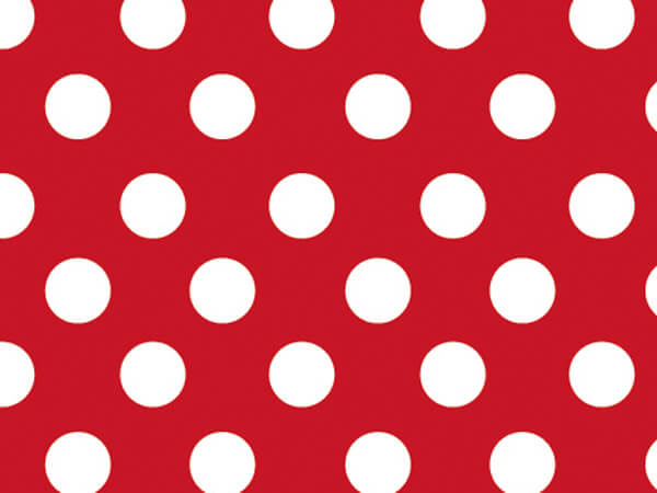 "Cherry Dots 18""x417' Gift Wrap Half Ream Roll"