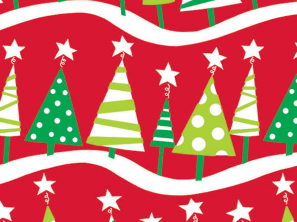 "Christmas Tree Rock 18""x833' Gift Wrap Full Ream Roll"