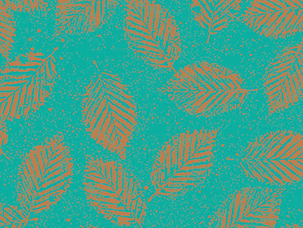 """Copper Leaves 7-3/8""""x100' Gift Wrap Jeweler's Roll"""
