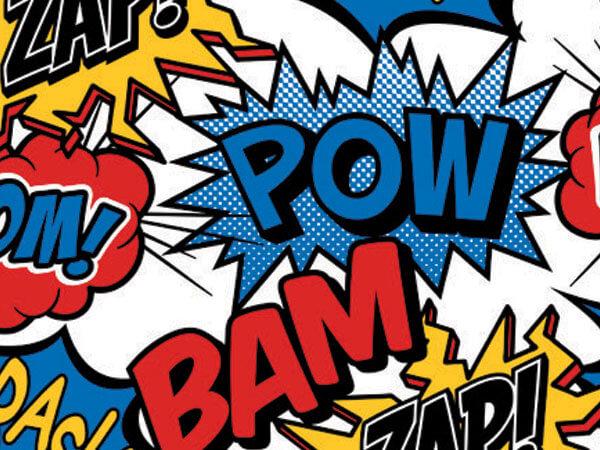 "Superhero 24""x100' Gift Wrap Roll"