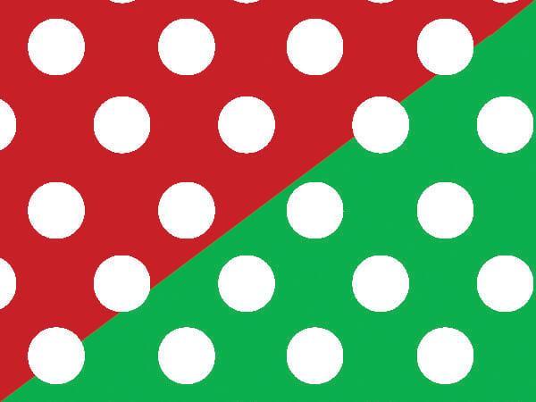"Christmas Polka Dot 18""x417' Gift Wrap Half Ream (reversible)"