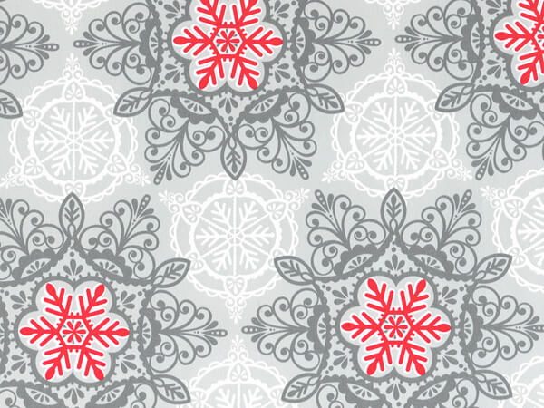 """Christmas Lace 18""""x833' Gift Wrap Full Ream Roll"""