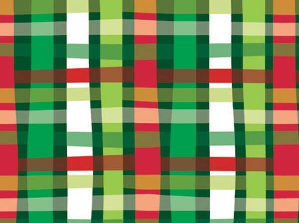 "Christmas Weave 18""x833' Gift Wrap Full Ream Roll"