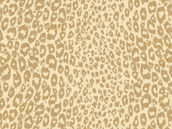 "Golden Cheetah 18""x833' Gift Wrap Full Ream Roll"