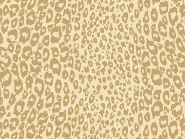 "Golden Cheetah 18""x417' Gift Wrap Half Ream Roll"