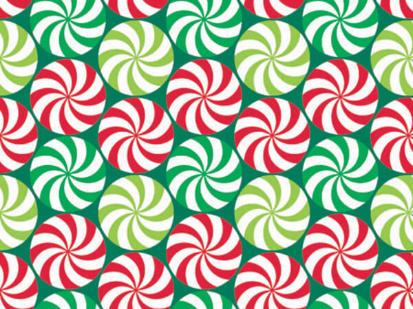 "Peppermint Swirl 24""x100' Gift Wrap Roll"