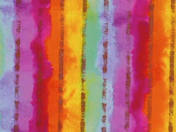 "Rainbow Stripe  24""x100' Gift Wrap Roll"