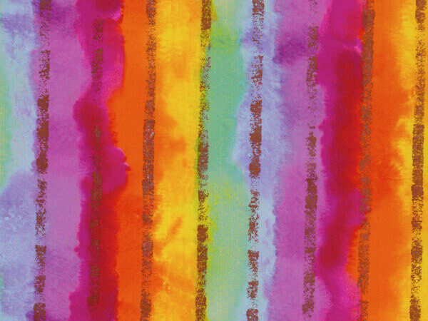 "Rainbow Stripe  18""x833' Gift Wrap Full Ream Roll"