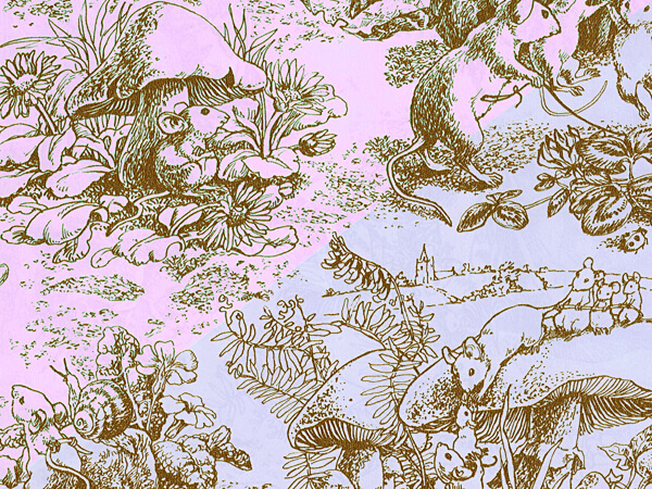 "Baby Toile 24""x833' Gift Wrap Full Ream (reversible)"