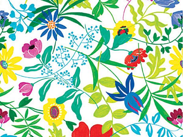 """Summer Garden 18""""x417' Ultra Gloss Gift Wrap Half Ream Rol"""