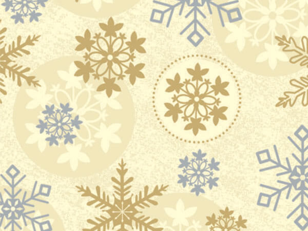 "First Snowfall 24""x833' Gift Wrap Full Ream Roll"