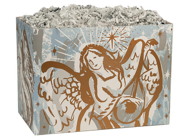 Large Musical Angels Basket Boxes 10-1/4x6x7-1/2""