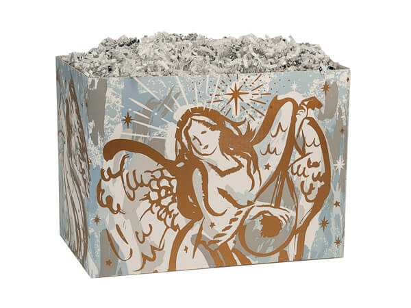 *Small Musical Angels Basket Boxes 6-3/4x4x5""