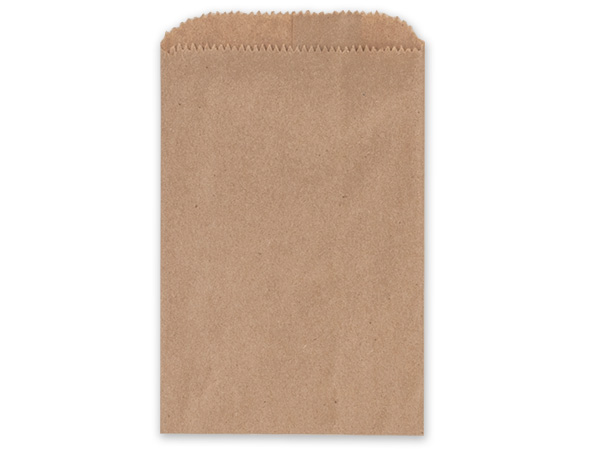 "Brown Kraft Paper Merchandise Bags, 4.75x6.75"", 1000 Bulk Pack"