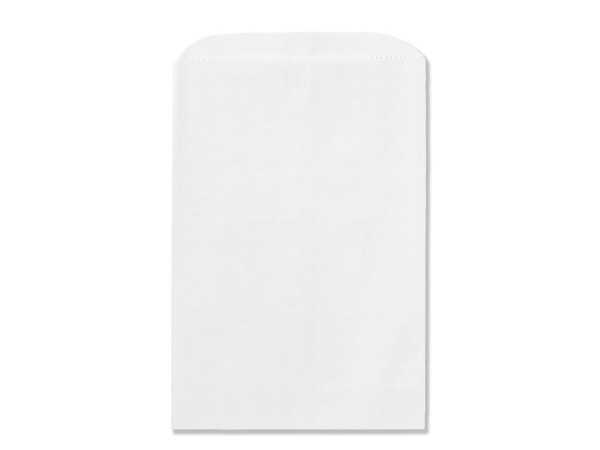 "White Kraft Paper Merchandise Bags, 4.75x6.75"", 1000 Bulk Pack"