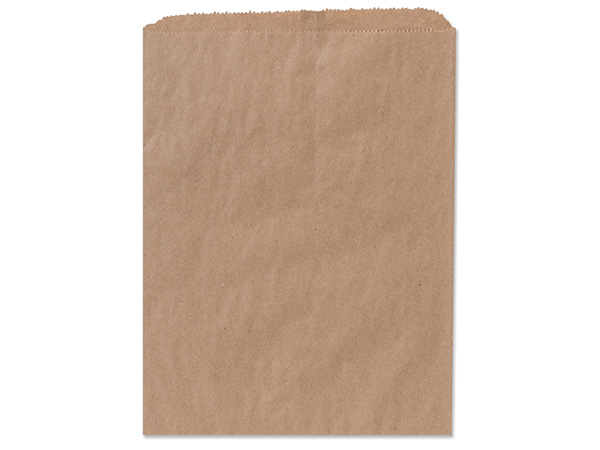 "Brown Kraft Paper Merchandise Bags, 10x13"", 1000 Bulk Pack"