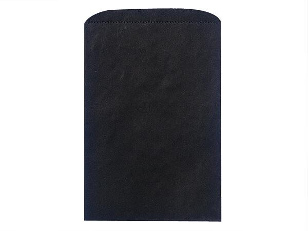 "Black Paper Merchandise Bags, 6.25x9.25"", 1000 Bulk Pack"