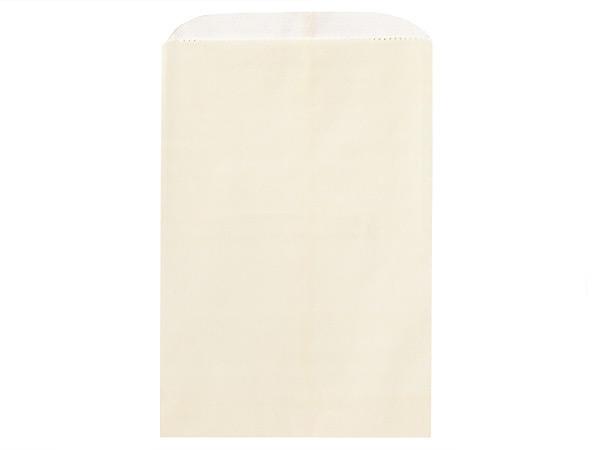 "Cream Paper Merchandise Bags, Bags, 6.25x9.25"", 1000 Pack"
