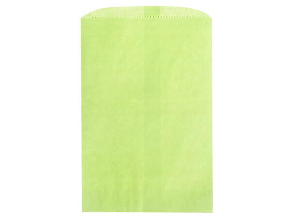 "Lime Green Paper Merchandise Bags, 6.25x9.25"", 1000 Bulk Pack"