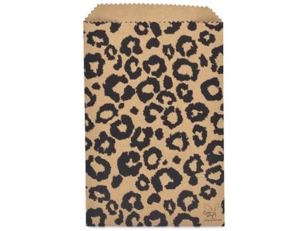 "Leopard Kraft Paper Merchandise Merchandise Bags, 6.25x9.25"""