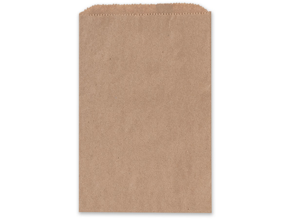 "6.25x9.25"" Brown Paper Merchandise Bags"