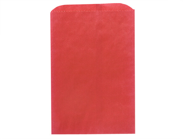 "Red Paper Merchandise Bags, 6.25x9.25"", 1000 Pack"
