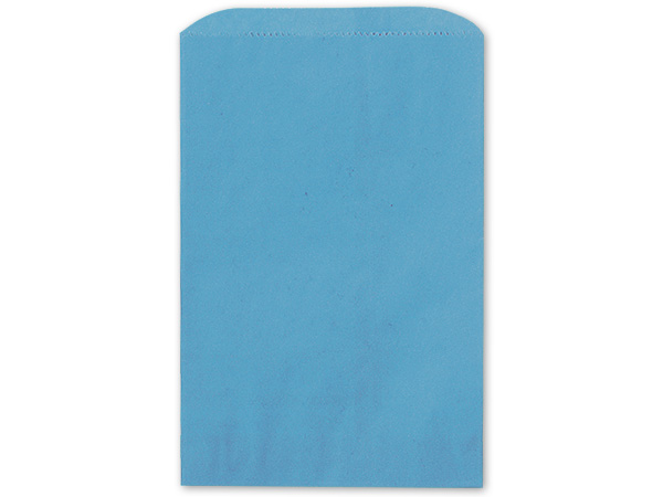 "Sky Blue Paper Merchandise Bags, 6.25x9.25"", 1000 Bulk Pack"