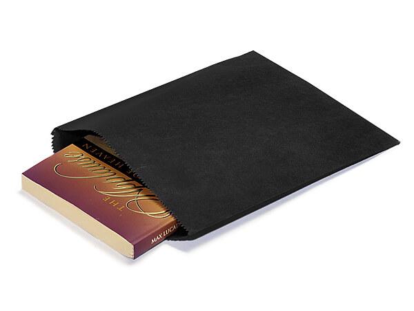 "Black Paper Merchandise Bags, 8.5x11"", 1000 Bulk Pack"