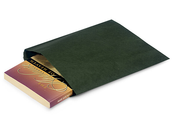 "Hunter Green Paper Merchandise Bags, 8.5x11"", 1000 Pack"
